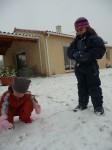 Découverte de la neige pour Julie